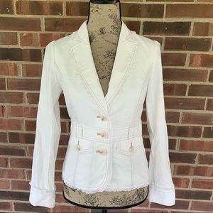 Like new WHBM white blazer jacket